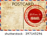 vintage postcard welcome to... | Shutterstock . vector #397145296