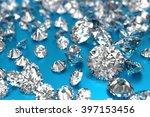 luxury diamonds on blue... | Shutterstock . vector #397153456