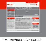 responsive web layout template... | Shutterstock .eps vector #397153888