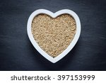 heart filled with brown rice | Shutterstock . vector #397153999