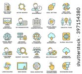 modern seo contour icons of web ...   Shutterstock .eps vector #397154380