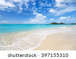 idyllic tropical beach with... | Shutterstock . vector #397155310