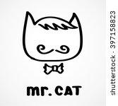 fashion portrait of mr cat ... | Shutterstock .eps vector #397158823