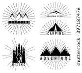 set of vintage grunge labels... | Shutterstock .eps vector #397187476