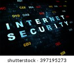 privacy concept  pixelated blue ... | Shutterstock . vector #397195273