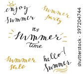 summer set of simple hand... | Shutterstock .eps vector #397204744