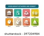 scholarship flat icon set | Shutterstock .eps vector #397204984