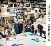 classroom learning mathematics... | Shutterstock . vector #397207720