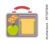 lunchbox with school lunch ... | Shutterstock .eps vector #397207840