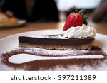 Chocolate Tart With Strawberry...