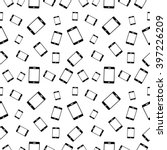 vector seamless black and white ... | Shutterstock .eps vector #397226209
