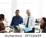 business team working office... | Shutterstock . vector #397226659