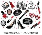 hand drawn fashion set.... | Shutterstock .eps vector #397228693