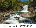 small waterfall in the...   Shutterstock . vector #397234900
