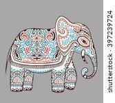 vintage graphic vector indian... | Shutterstock .eps vector #397239724