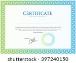 certificate. template diplomas  ... | Shutterstock .eps vector #397240150