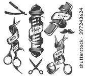 Vector Set Of Hair Salon Vecto...