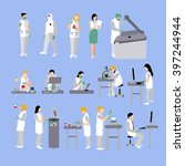 vector set of people in medical ... | Shutterstock .eps vector #397244944