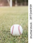 baseball on the infield chalk... | Shutterstock . vector #397244959