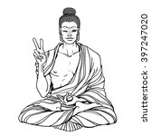modern sexy buddha showing... | Shutterstock .eps vector #397247020