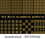 set of seamless patterns of art ... | Shutterstock .eps vector #397255426