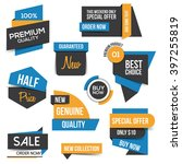 collection of sale discount... | Shutterstock .eps vector #397255819