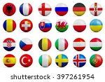 four soccer balls with groups...   Shutterstock . vector #397261954
