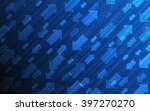 abstract technology with arrow...   Shutterstock .eps vector #397270270