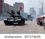 Military Tanks Parade In Front...