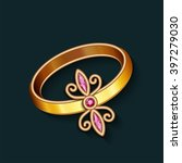 vintage jewelry gold ring with... | Shutterstock .eps vector #397279030