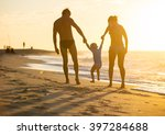 happy family with little boy... | Shutterstock . vector #397284688