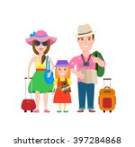 traveling family on vacation... | Shutterstock .eps vector #397284868