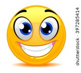 vector illustration of smiley... | Shutterstock .eps vector #397285414