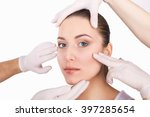 beauty treatments. young pretty ... | Shutterstock . vector #397285654