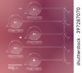 infographic design vector... | Shutterstock .eps vector #397287070