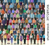 huge crowd of more than 50... | Shutterstock .eps vector #397289146