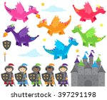 vector collection of dragon and ... | Shutterstock .eps vector #397291198