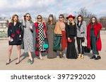 paris   march 5  2016  stylish... | Shutterstock . vector #397292020