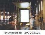 mock up of blank billboard on... | Shutterstock . vector #397292128