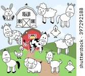 vector collection of farm... | Shutterstock .eps vector #397292188