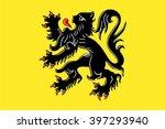 flag of flanders flemish region ... | Shutterstock .eps vector #397293940