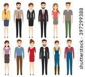 international young people... | Shutterstock .eps vector #397299388