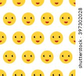 bright yellow smiling faces... | Shutterstock . vector #397302028