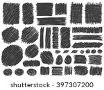 doodle spots and frames vector. ... | Shutterstock .eps vector #397307200