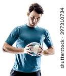 man handball player isolated | Shutterstock . vector #397310734