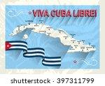 vintage style cuba map. viva... | Shutterstock .eps vector #397311799