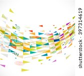abstract creative mix... | Shutterstock .eps vector #397314619