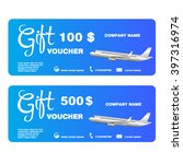 gift voucher for trip with... | Shutterstock .eps vector #397316974