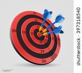 target with darts  target 3d...   Shutterstock .eps vector #397318540
