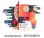 startup business flat design | Shutterstock .eps vector #397320874
